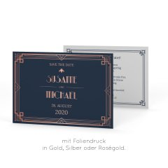 Gatsby | Save the Date Postkarte