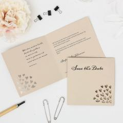 Lovely | Save the Date - Klappkarte quadratisch klein