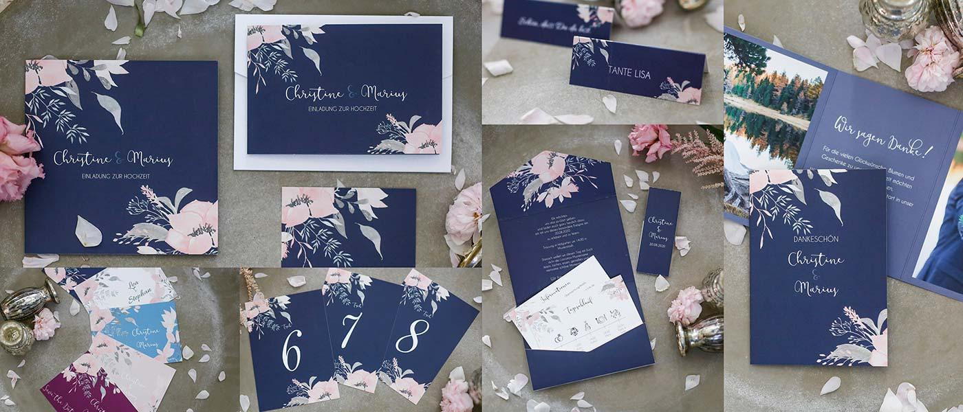 Hochzeitspapeterie mit dem Motiv Landliebe für echte Vintage-Hochzeiten