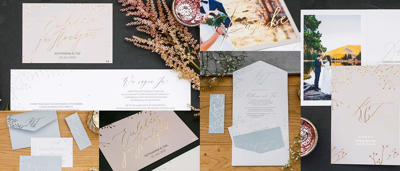 Hochzeitspapeterie Sleeping Beauty von honeybird.de - liebevolle Hochzeitskarten